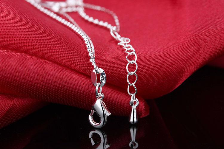Браслет на щиколотке из стерлингового серебра 925 пробы 2 слоя
