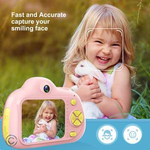 Image 1 - 子供カメラミニカートンデジタル一眼レフスマートカメラデュアルレンズ 2.0 インチ 12MP 落下防止のためのおもちゃカメラ女の子クリスマスギフト