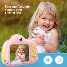 Dla dzieci aparat fotograficzny Mini karton lustrzanka cyfrowa inteligentny aparat fotograficzny podwójny obiektyw 2.0 cal 12MP Anti Fall kamera dla chłopców dziewcząt prezent na boże narodzenie