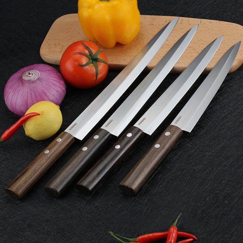 Professionnel Sushi Sashimi Cuisine Couteau Coupe Du Poisson Couperet Viande Style Japonais Lame Tranchante En Acier Inoxydable Couteaux De Cuisine Outil