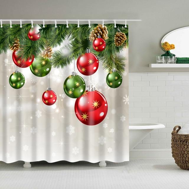 Americano Bagno Tenda Della Doccia Set Marry Christmas Lavabile Impermeabile Bag