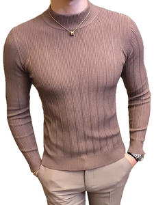 Casual Sweater Gentleman Winter Mens Fashion Cotton New Autumn British And Solid Hood