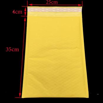 Bardzo duża! 1 szt (35*25cm + 4cm) żółta bańka opakowanie E-mail koperta opakowanie torby przewozowe torby papierowe E-mail tanie i dobre opinie ALSMT 25*35+4cm A1427 Other