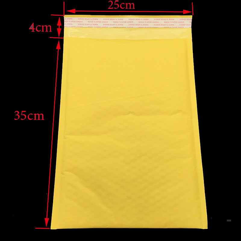 Extra Large!1pc / (35 * 25cm + 4cm) Yellow Bubble E-mail Packaging Envelope Packaging Shipping Bags Kraft Paper Bags E-mail