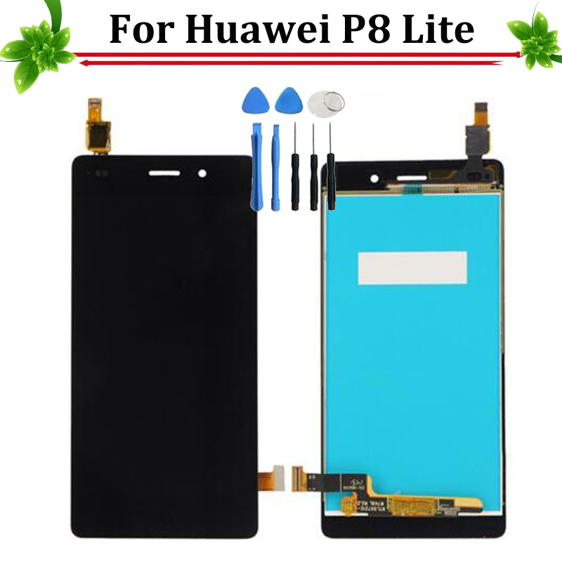 New For Huawei Ascend P8 Lite LCD Display+Touch Screen Digitizer Replacement, 5.0 LCD for Huawei P8 Lite ALE-L04 ALE-L21 brand new lcd display touch screen digitizer assembly for huawei ascend p8 lite replacement parts