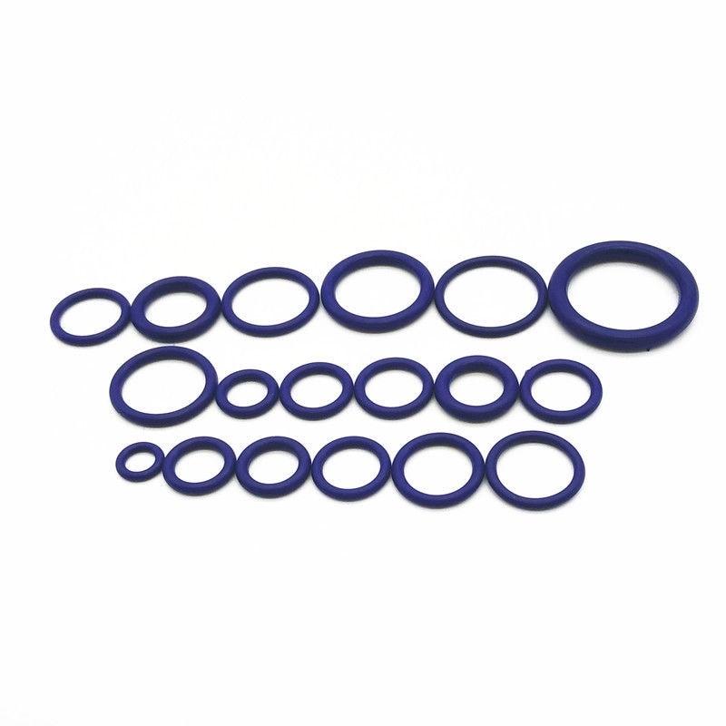 R22 r134a225pcs уплотнительное кольцо Прокладки автомобиль/c Системы кондиционер o кольцо Уплотнители шайба инструментов hnbr резиновые фиолетовый ...