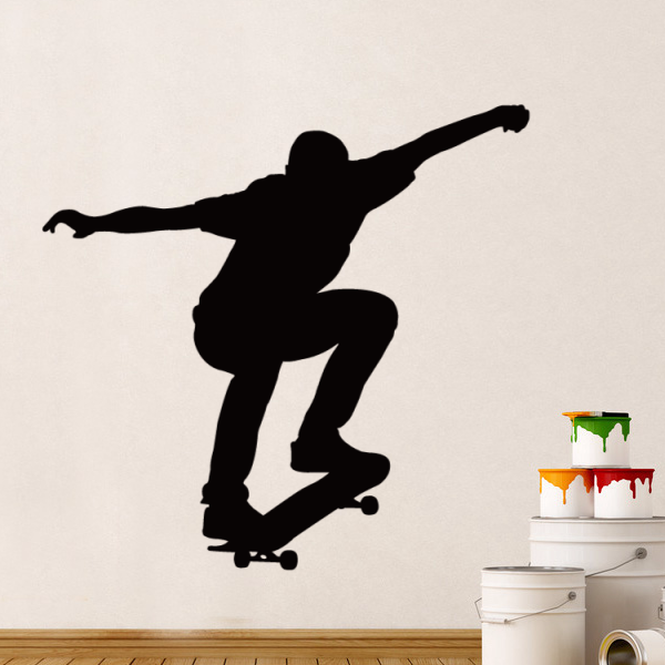 Extreme Skate Sports Skater Boy Sketch Wedding Decor Wall Decal Wallpaper Wall Sticker Kids Rooms Decor