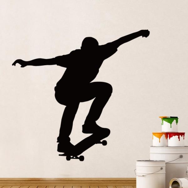 Olahraga Ekstrim Skate Skater Boy Sketsa Pernikahan Dekorasi Dinding