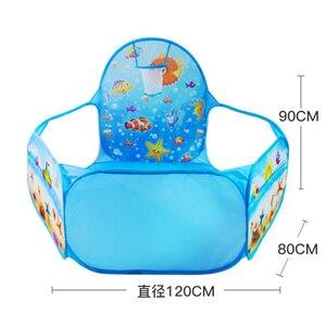 Image 5 - Nowe zabawki namiot seria ocean gra animowana piłka Pits przenośny basen składany dzieci sport na świeżym powietrzu edukacyjne zabawki z koszem