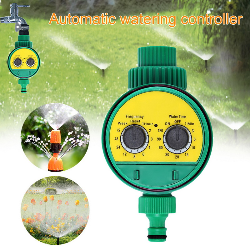 1Pcs Automatic Smart Irrigation Controller Automatic On Off LCD Display Outdoor Waterproof Watering Timer Hose Faucet Timer