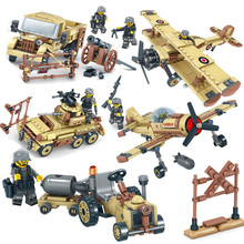 WW2 Army Military EAGLE CORPS Cars Planes Helicopter Tank Truck Soldiers Building Blocks Sets Bricks DIY Toys for Children new century military m1a2 abrams tank cannon deformation hummer cars building blocks bricks figures toys for children