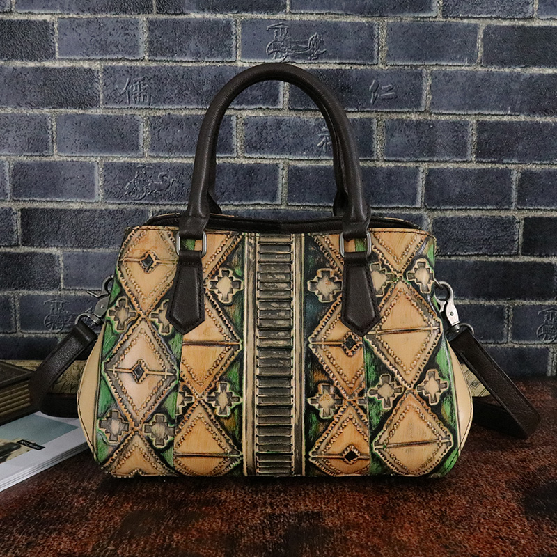 Women Messenger Shoulder Bag Tote Handbag Natural Skin Hobo Vintage Female Genuine Embossed Leather Cross Body Top Handle Bags 2pcs set vintage handbags women messenger bag female purse solid shoulder office lady casual tote genuine leather top handle bag