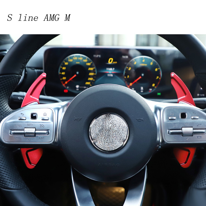 Car styling Steering Wheel Shift Paddle Extension Shifters Replacement Stickers For Mercedes Benz A Class A180 <font><b>A200</b></font> Accessories image