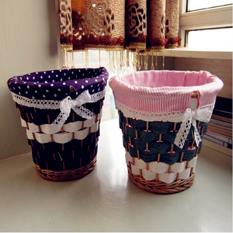 2016  Eco-friendly Round Shape Baskets Picnic  Wicker Woven Basket Dirty Clothes  Storage  Basket