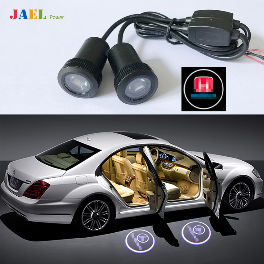 2PCs LED Door Ghost Shadow Light Courtesy Laser Projector Puddle lights Case For HONDA Logo on the Ground