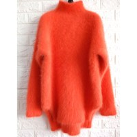 2017 Winter New Fashion Thickened Warm Turtleneck Mohair Sweater Female Sweater Long Sleeve Solid Color Slim