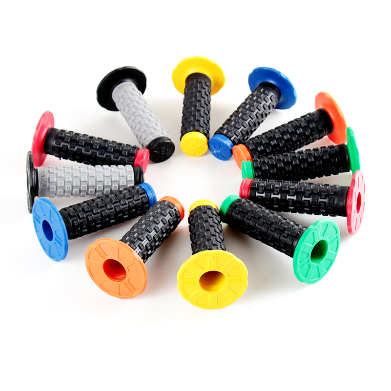 Colorful Handle MX Grip Pro Grip Fit To GEL GP Motorcycle Dirt Pit Bike Rubber Handlebar Grip For PRO TAPER Free Shipping in Grips from Automobiles Motorcycles
