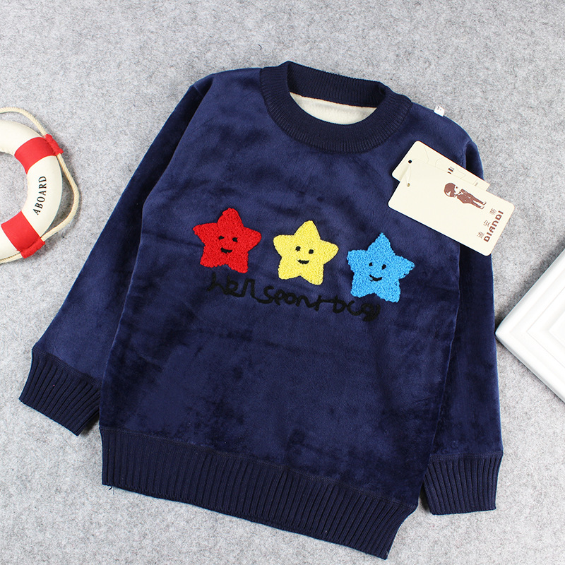 b8608fc54f6a Autumn Winter Baby Boys Sweaters Pullover Tops Kids Girls Cute ...