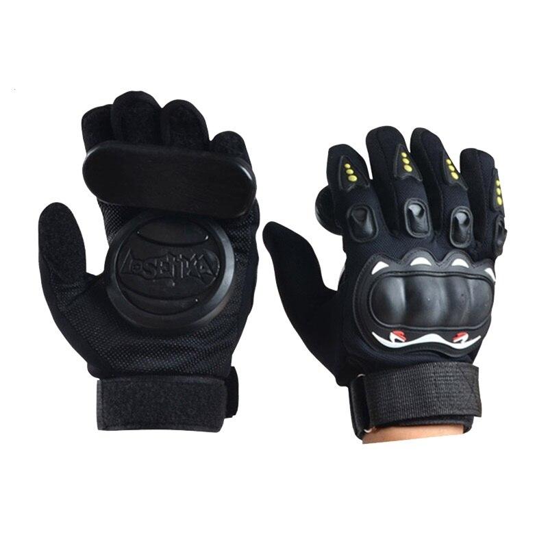 .Downhill Skateboard Gloves Roller Safety Gear Longboard Slide Gloves With Slider Skate Accessoriesg For Peny Long Board monochrome