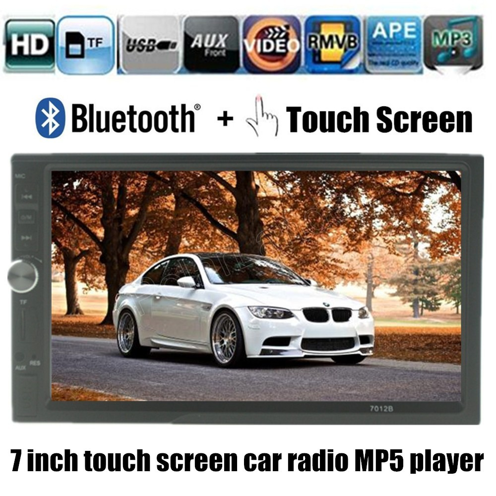 7 inch 2 DIN touch screen bluetooth support rar camera Car Radio MP5 MP4 player FM TF USB AUX stereo video player 5 languages