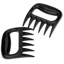1 пара потянул свинины Шредер когти-легко Поднимите ручку Shred и резка мяса Жаростойкие антипригарные принадлежности для барбекю инструмент BPA бесплатно