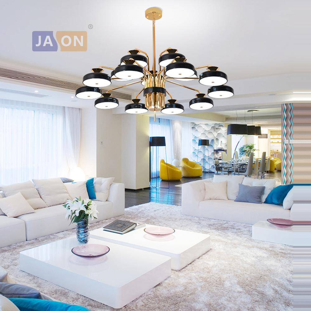 LED fer Postmodern acrylique bleu noir or lampe à LED lumière LED. suspension. suspension. suspension pour salle à manger