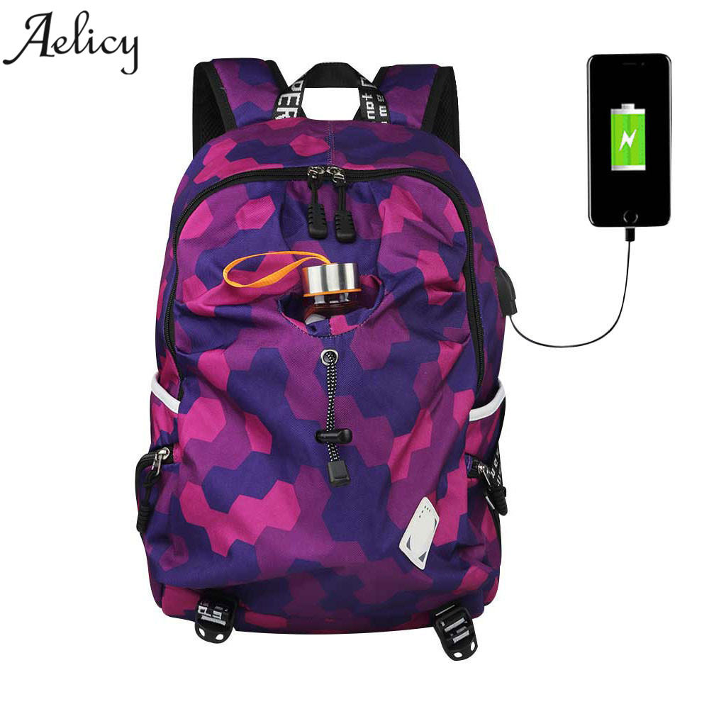 Aelicy luxury Backpack College Student Nylon Waterproof Backpack for Men Women High Qualit