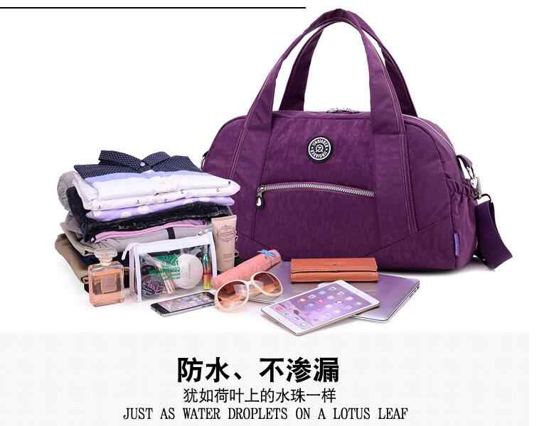 Jinqiaoer Tren Fashion Baru Penjualan Rumah Besar Kapasitas Tas Nilon dengan Single Tas Bahu.
