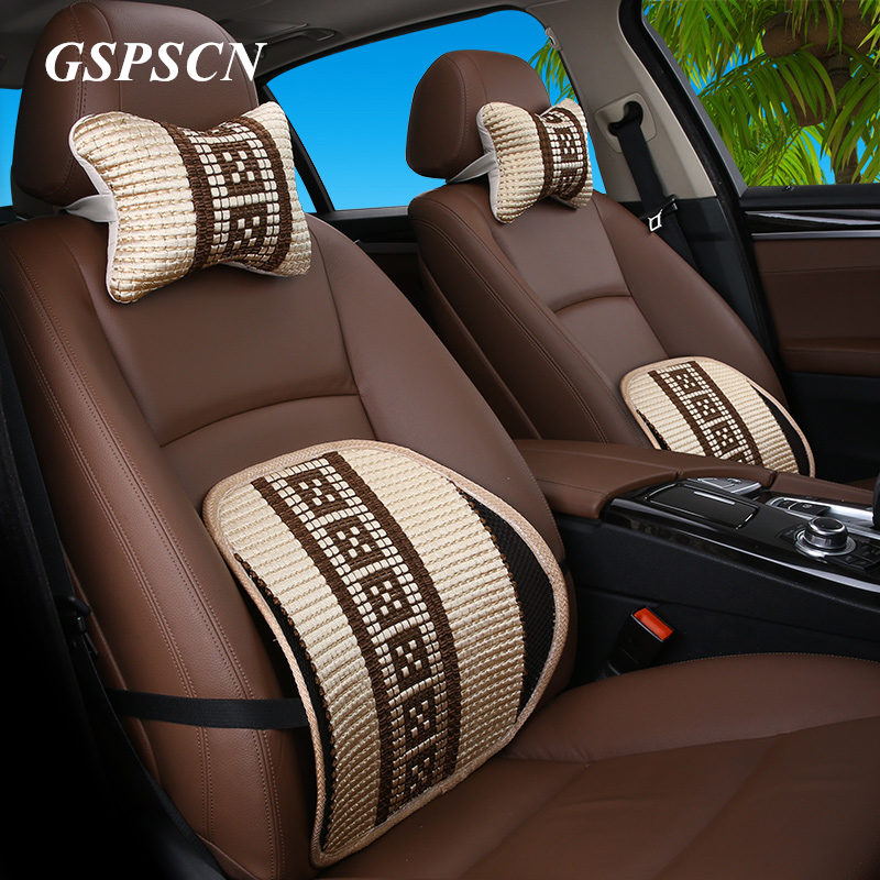 New Spring Car Pillow Seat back support Car Covers Auto Car Neck Rest Cushion Headrest Pillow Mat For Universal Seat Supports