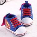 2016 Novos Sapatos de Bebê Moda Dos Desenhos Animados Batman Superman aby Meninos Criança Infantes Sapatos Berço Bebê Sapatos Primeiro Caminhantes Crianças Recém-nascidas