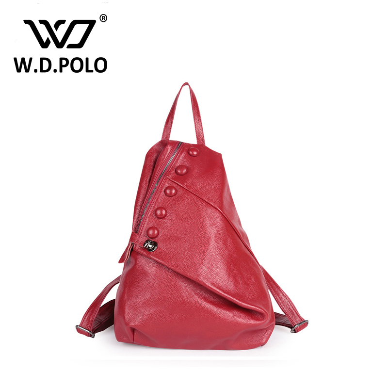 WDPOLO High quality backpack fashion slogan button and zipper open design hand bags high capacity never full backpacks M1738 high tech and fashion electric product shell plastic mold