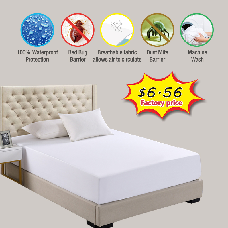 New Waterproof  Mattress Pad Top Hypoallergenic Mattress Protector Against Dust Mites And Bacteria Fitted Sheet Mattress Topper