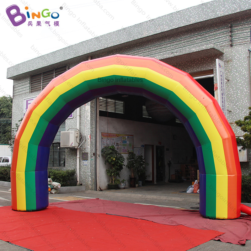 FACTORY OUTLET 6x4m inflatable rainbow arch high quality PVC arch balloon welcome decoration customized for advertising entranceFACTORY OUTLET 6x4m inflatable rainbow arch high quality PVC arch balloon welcome decoration customized for advertising entrance