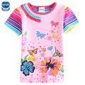 Varejo crianças roupas de menina nova moda novo estilo de manga curta camisa de impressão t para meninas