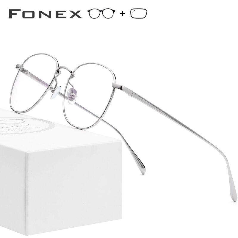 311e7873af Cheap De titanio puro gafas marco hombres ultraligero Retro miopía óptica  marcos de gafas Retro mujeres