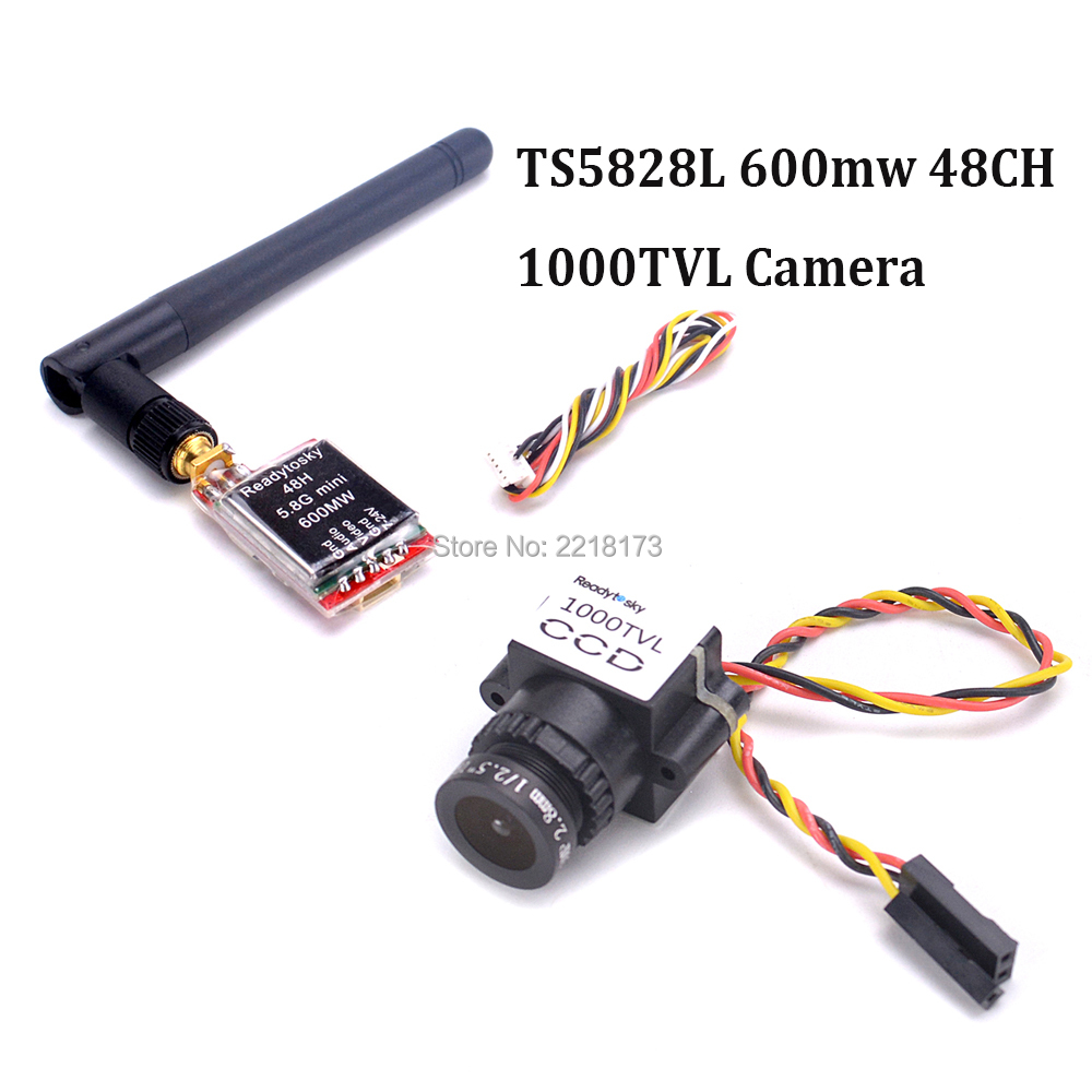 5,8g 600 MW TS5828/TS5828L 48ch transmisor FPV Mini 1000TVL CCD 1/3 110 grados 2,8mm lente Mini FPV Cámara NTSC PAL conmutable