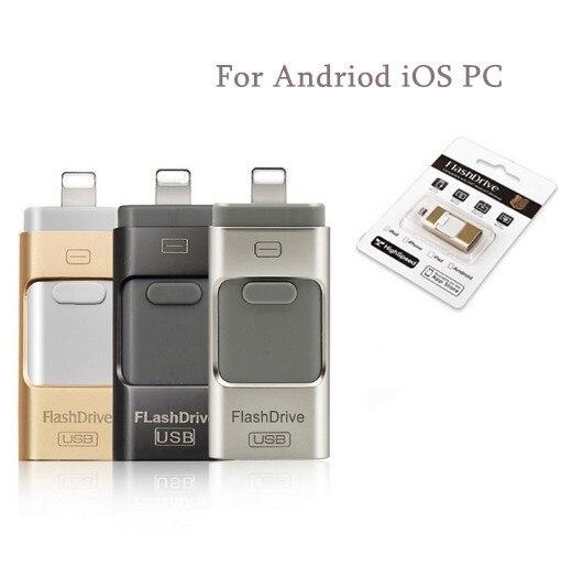Lecteur de carte Lecteur Flash USB Memory Stick U Disque Clé Usb OTG Pour iPhone 5 6 7 8 iPad iPod/PC/MAC Andriod iOS PC 32G 64G