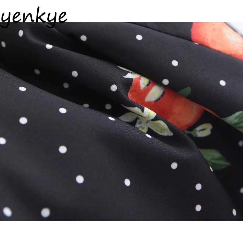 Летнее платье женское винтажное платье в горошек с фруктовым принтом с коротким рукавом женское сексуальное платье с открытой спиной с v-образным вырезом мини-платье Короткое
