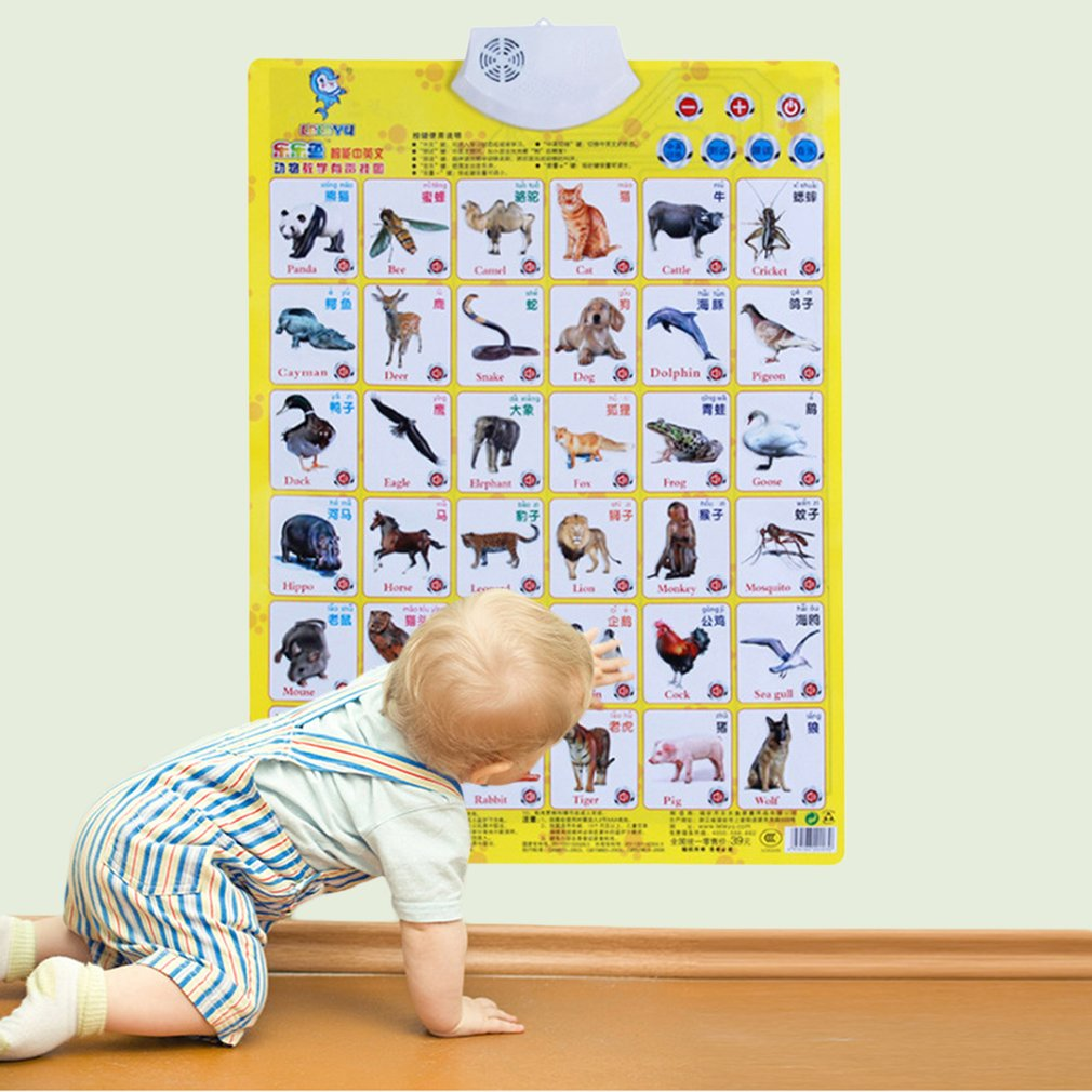 Toy Learning-Machine Educational-Toy Sound-Wall-Chart Audio Electronic-Alphabet English