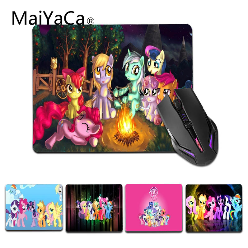 MaiYaCa My Little Pony Comfort small Mouse Mat Gaming Mouse pad Size for 25X29cm Rubber Mousepads