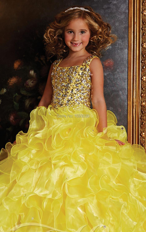 Bright Yellow Flower Girl Dresses Style Yellow Dress
