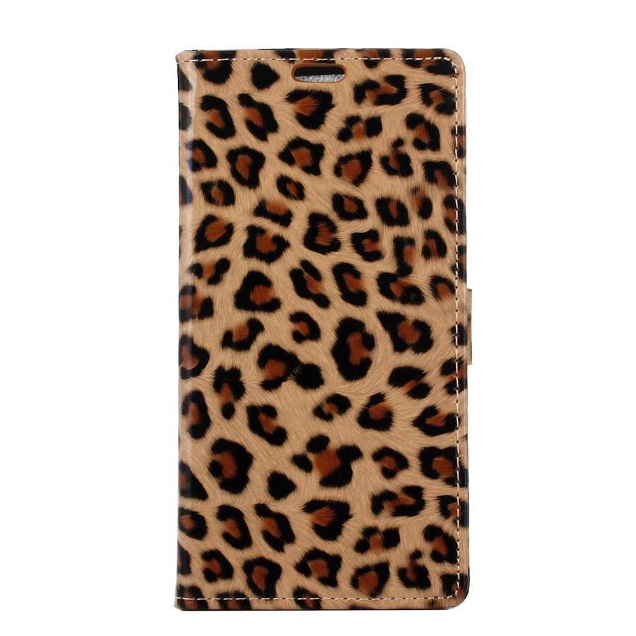 Coque de la cubierta case para meizu m5s leopardo de cuero hecha a mano del telé