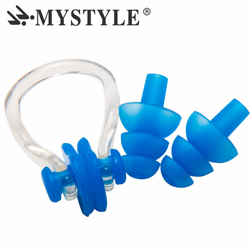 Pool & Accessories Surfing & Diving 1pair Waterproof Swimming Earplug Nose Clip Watertight Set Kit Sports Fitness Swimming Pool Accessories Nasal Splint Ear Plugs High Resilience