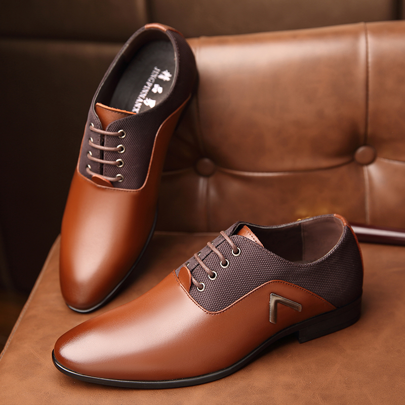 3873a952a OSCO Men Dress Shoes Men Formal Shoes Leather Luxury Fashion Wedding Shoes  Men Business Casual Oxford Shoes-in Formal Shoes from Shoes on  Aliexpress.com ...