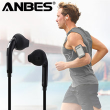 ANBES Sport Headphones with Mic 3.5mm In-Ear Wired Earphone Earbuds Stereo Headphones Universal for Xiaomi iPhone PC(China)