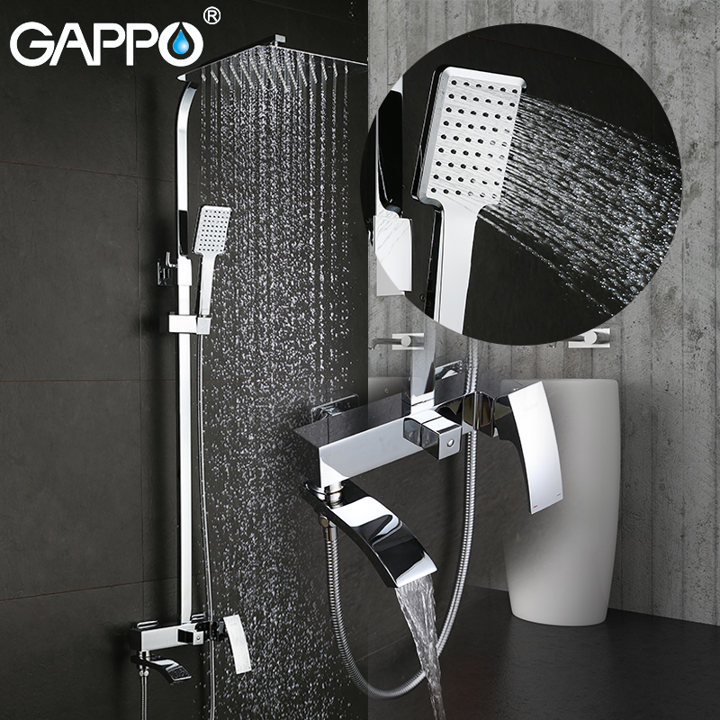 GAPPO Shower Faucets faucet set bathtub faucets shower mixer tap Bath Shower taps Waterfall shower head Wall Mixer torneira taps 2018 brand harley vintage motorcycle helmet jet scooter retro helmets 3 4 open face retro casco half face casque moto helmets