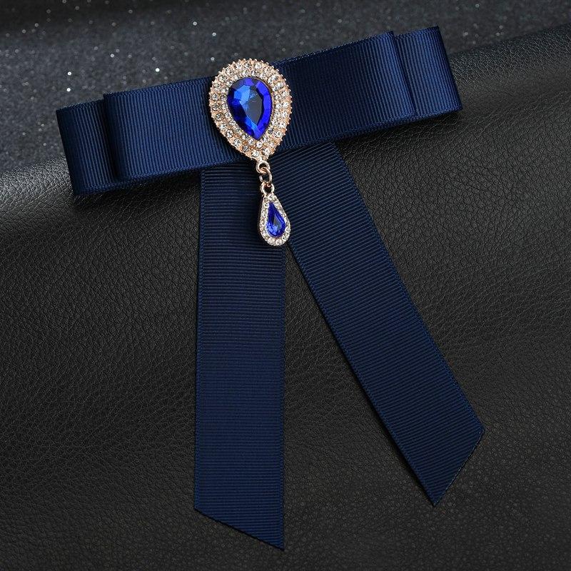 Fashion Vintage Pre-Tied Genuine Feather or w// Crystal Bow Tie Furry Black White