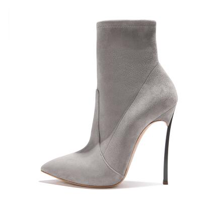 Nere Scamosciata A Stivali Ankle Tacco Slip Toe Alto As Picture Più Donne I On Cm Picture Stiletto 2018 Pelle Elasticizzati Nuovi 12 as Boots Faux In Punta Sexy wZ8Xwz7q