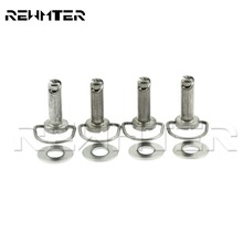 Motorcycle Parts Fastener Hard Saddlebag Mounting Pin Stud Bolt Chrome For Harley Touring FLHR FLHS