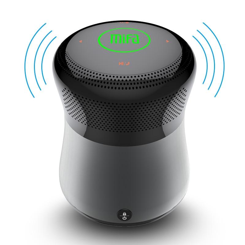 Mifa A3 haut-parleurs Bluetooth Tactile Contrôle Sans Fil Portable Haut-Parleur HiFi 3D Stéréo Soutien TF Carte AUX Mains Libres Avec Microphone